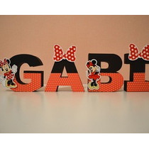 Letras Personalizadas 3d Minnie Minie