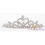 Tiara Coroa Infantil Luxo Princesa Com Strass