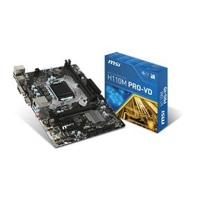 Tarjeta Madre Msi H110m Intel Socket 1151 6ta Gen Ddr4