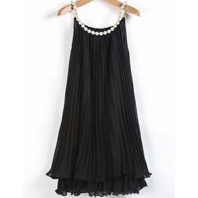Vestido Corto En Gasa Plisada A Medida!!!