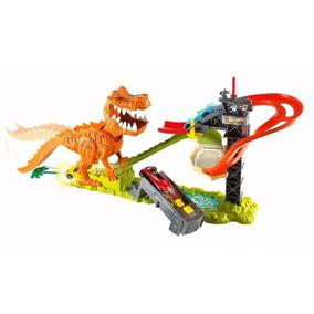 Pista Hot Wheels Ataque Do T-rex C/ Som Dinossauro Mattel
