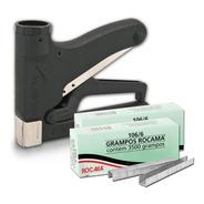 Kit Grampeador Manual Tapeçaria Madeira 106-premium Rocama
