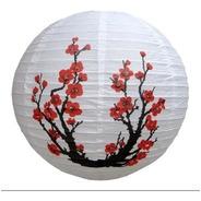 Kit 3 Luminária Japonesa Oriental Cerejeira Sakura 40cm