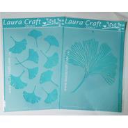 Stencil Laura Craft Set Ginkgo Biloba