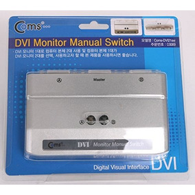 Coms Dvi Conmutador Manual Selector Caja Tv Lcd Monitor 2 P
