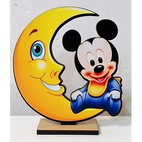 20 Souvenirs + Centro De Mesa Mickey Bebe Nuevo
