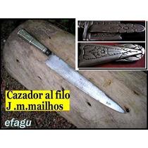 Cuchillo Cazador Al Filo Antiguo No Broqua Daga Faca Oro