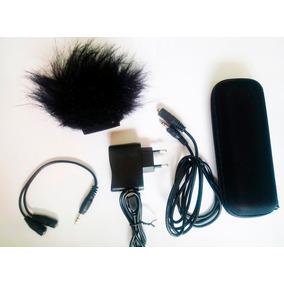 Kit Gravador Zoom H1 Aph-1 Case+fonte+ Abo Y+protetor Vento
