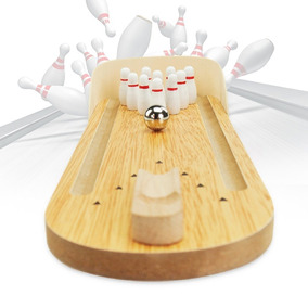 Brinquedo Mini Pista Boliche De Mesa Anti Stress Decorativo