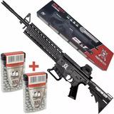 Espingarda Pressão Chumbinho Rifle M4 800 Fps Capac 80 Tiros