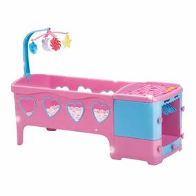 Berço Doce Sonho Rosa Com Travesseiro E Colchão Magic Toys