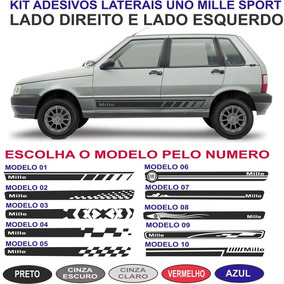 Faixa Lateral Sport Fiat Uno Mille Fire Way Economy Kit