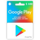 Tarjeta Google Play Gift Card 100 Dolares Usd Envio Rapido