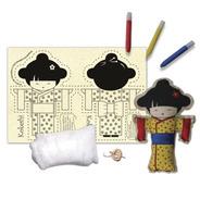 Boneca De Pano Kokeshi - Alegria Sem Bateria