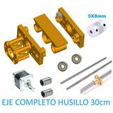 Kit Eje Cnc Completo Partes Mecanicas Con Husillo 30cm Grbl
