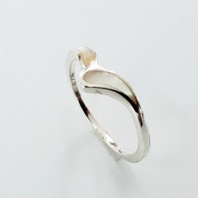 Anel Curvado De Prata 925 - Anéis com o melhor preço no Mercado ... 6ab5192cc1