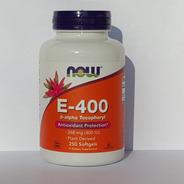 Vitamina E-400 Ui Com D-alfa Tocoferol 250 Cáps Now Foods