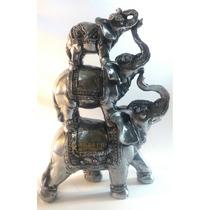 Elefante Estatueta Trio Decoração Sorte Sabedoria Tromba