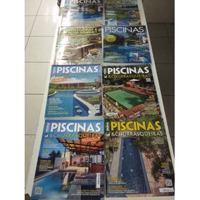 Kit 8 Revistas Piscinas E Churrasqueiras. Frete Grátis