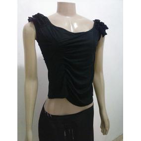 Blusinha Preta De Viscolicra Tam.m Marcag.fashion Cx2
