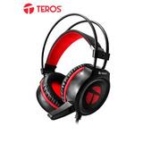 Te Auriculares Gaming Teros Te-502, Estereo, Micrófono, 3.5