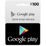 Google Play Gift Card Tarjeta 100 Usd Entrega Rapida