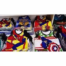 25 Camisetas Regata Infantil Personagens E Super Heróis