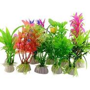 Plantas Artificiais Aquário Decoração : 3un 20cm + 3un 30cm