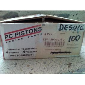 Piston Motor Jgo (4 Pzas) Optra Desing 100/40