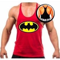 Camiseta Regata Super Cavada Batman Universal Treino Maromba