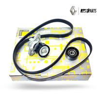 Kit Correia Alternador Polias Renault Kangoo 1.6 8/16v C/ Ar