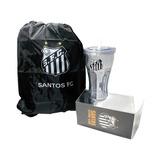 fb52827579 Kit Mochila Bolsa Sacola Com Copo Personalizado Santos F.c