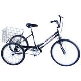 Bicicleta Triciclo Aro 26 Preto