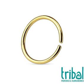 Piercing Argola Septo Cartilagem Aço Dourado Tribal