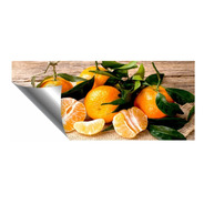 Adesivo Parede Painel Cozinha Fruta Tangerina Laranja Verão