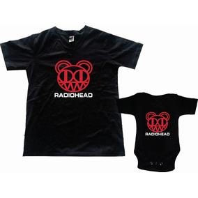 Pkt Playera & Pañalero Rock Radiohead Personalizado