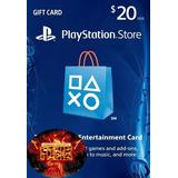Tarjeta Playstation Card 20 Usd Psn Ps4, Psvita, Ps3