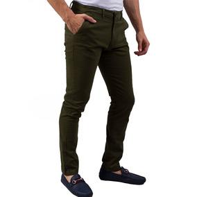 Pantalon Sr. Marino Gabardina Algodon Verde Militar Cm-19