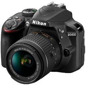 Camera Nikon D3400 Lente 18x55mm
