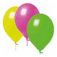 Balão Bexiga De Neon Nº9 - Com 30 Unidades