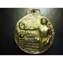 Mexico Antigua Medalla De Reconocimiento Escolar Estaño 47g