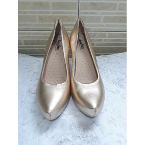 Sapato Usaflex Dourado Tam 39