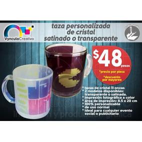 Taza Personalizada De Vidrio Sublimada A Color