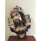 Imagen De Resina Rostro Cristo En Cruz 40 Cm Envio Gratis