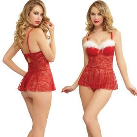 Sexy Babydoll Rojo Super Sensual Navideño! Aprovecha! Oferta