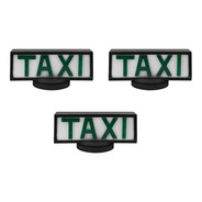 03 Luminosos Para Teto De Taxi Retangular Com Base De Íman