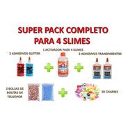 El Mejor Kit Completo P/ Hacer 4 Slimes Con Charms Y Crunchy