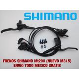 Frenos Shimano Mt200 Del Y Tras Nuevos 2018 Envio Gratis