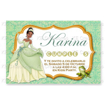 Invitaciones Kit Imprimible Princesa Tiana Disney Fiesta