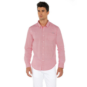 Camisa Oggi Ml X1541306 Rojo Hombre